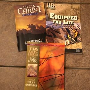 SALE 7/$20 lot of 3 religious Bible study books